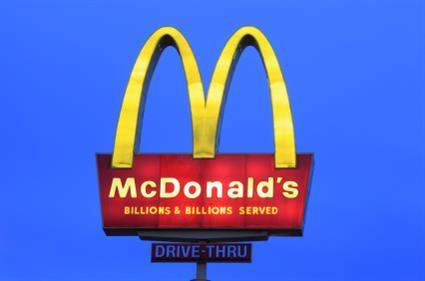 McDonalds sign fast food franchise